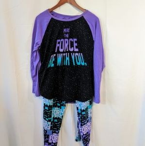 NWOT purple Star wars pajama set